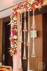 Flower Design For Marriage Pretty Hanging Floral Decor In Pink And White Pink Wedding