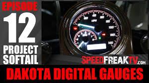 project softail ep12 dakota digital gauges sppedfreaktv youtube Harley-Davidson Motorcycle Tachometer Wiring Diagram at Dakota Digital Motorcycle Tachometer Wiring Diagram