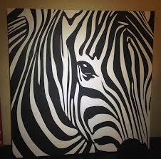 animal zebra canvas painting nature wild wildlife