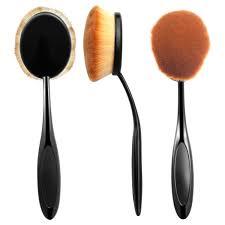 zodaca small head oval cream puff cosmetic toothbrush shaped powder makeup foundation brush black brown walmart