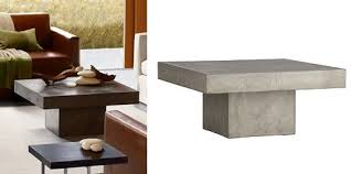 Lovable Cement Coffee Table Element Coffee Table Cb2