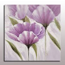 purple flower painting aliexpress beautiful modern simple abstract purple pictures