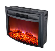 fireplace electric log insert with heater