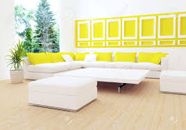 White Couch Living Room Interior Design Of Modern White Living Room With Big White Sofa