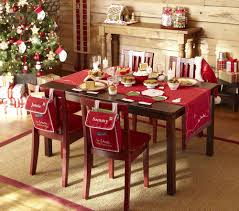 red christmas table decorations. 15 Modern Christmas Centerpieces Decoration: Table Decoration With Red Tablecloth ~ Design Ideas Inspiration Decorations S