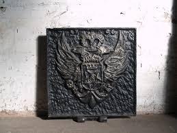 cast iron fireback. Antique Cast-Iron Fireback Cast Iron