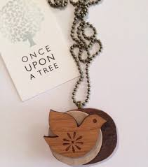 laser cut wooden dove bird pendant necklace once upon a tree madeit com au