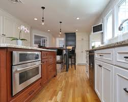 Mixing Kitchen Cabinet Colors Mixing Wood And White Kitchen Cabinets 02001520170508 Ponyiex