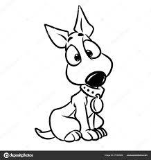Schattige Puppy Wonder Cartoon Geïsoleerde Illustratie Kleurplaat