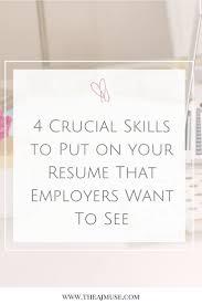 Best 25 Skills For Resume Ideas On Pinterest