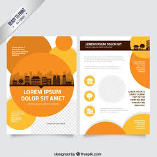 Orange Flyer Flyer Template With Orange Circles Vector Free Download