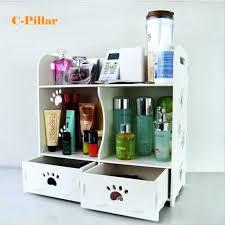 wood makeup organizer cosmetic organizer white wood makeup storage box desktop bathroom cosmetic organizer white wood makeup storage box desktop bathroom