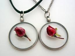 details about valentines day dried red rose in resin necklace give the rose that never s