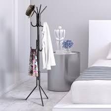 Iron Coat Rack Stand Langria 100 Tier Metal Coat Rack Stand Hall Tree with 100 Hooks 100 Layer 35