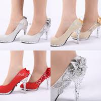 wholesale bridal shoes buy cheap bridal shoes from chinese Victorian Wedding Boots For Sale ladies christmas high heels shoes for women platform wedding shoes hot sale silver wed bridal heel party shoe ladies high heeled open shoes Victorian Ladies Boots