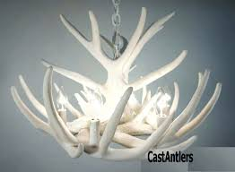 white faux antler chandelier pure lights whitetail 9 cast cascade uk