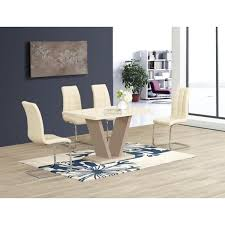 High Gloss Dining Table Zara High Gloss Dining Table In Cream Furniture Mill Outlet