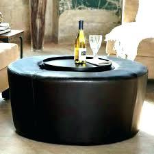 circle ottoman coffee table large black coffee table fashionable black round ottoman circle ottoman coffee table
