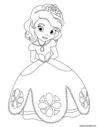 Coloriage Princesse Sofia Timide Lors Du Bal Dessin