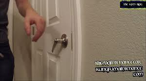 door lock handle sagging has lost it s spring back qualities not bouncing back repair video you