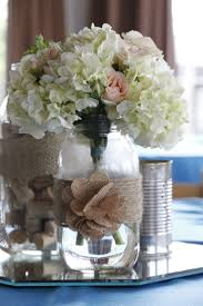 Vintage Mason Jar Decorations vintage hydrangea wedding centerpieces vintage mason jar 2