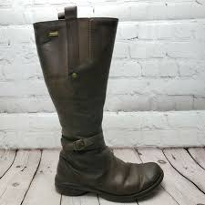merrell women s captiva tall brown espresso side zip riding leather boots size 7