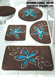 brown and blue bathroom rugs bathroom carpets bathroom rugs models colors