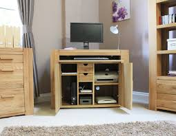 atlas chunky oak hidden home. atlas oak hidden home office desk chunky a