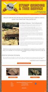 m m stump grinding tree service website history