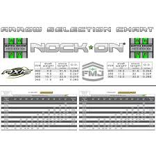 Easton Arrow Shaft Selection Chart Nock On Axis Pro Series Nock On