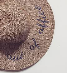 floppy office. out of office do not disturb u0026 monogrammed floppy sun hats 9