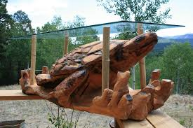 chainsaw carved turtle coffee table