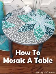 Design Your Own Mosaic Pattern How To Mosaic A Table Running With Sisters