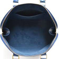 Louis Vuitton Alma Blue Epi Leather Handbag