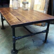 Pallet Coffee Table with gas pipe legs DIY Thingies