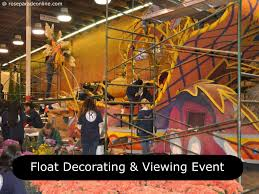 Rose Bowl Float Decorating Float Decorating Viewing Event 60 Rose Parade Rose Parade 5