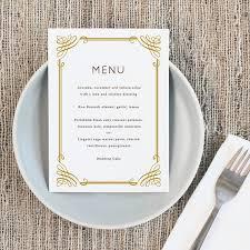 Printable Wedding Menu Template Instant Download Classic