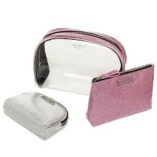 victoria 39 s secret silver sparkle makeup bag name