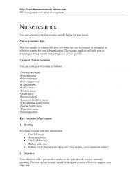Cover Letter Resume Format For Nurses Cvs Resumes Regarding