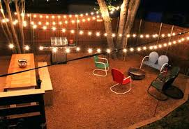 string lightsing outdoor amazing patio lights ideas colorful chairs with adorable lighting for rustic wedding reception
