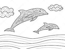 25 Idee Kleurplaten Dolfijn Mandala Kleurplaat Voor Kinderen