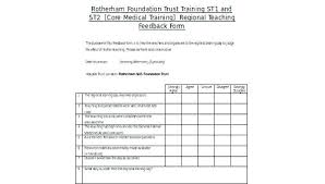 Training Feedback Form Template Doc For Resume Free Teaching
