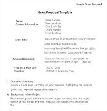 A New Sample Grant Proposal Non Profit Document Writing Funding