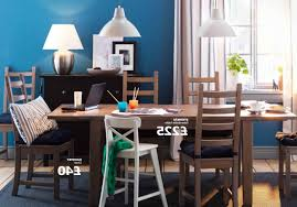 dining room chairs ikea dark brown wooden square tall table white chairs modern pendant lighting cute