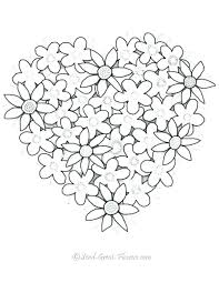 Printable Coloring Pages Of Hearts And Roses Adamoappscom