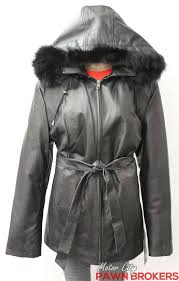 wilda genuine fox fur hood 3 4 length full cut women s leather jacket new