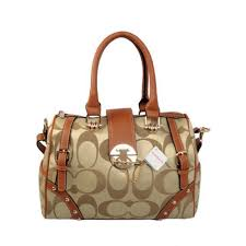 Latest Coach Lock In Monogram Medium Khaki Luggage Bags Byz Sale wWrb8