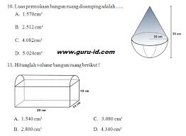 Menghitung volume kubus dan balok 3. Soal Volume Bangun Ruang Gabungan Kelas 6 Download File Guru
