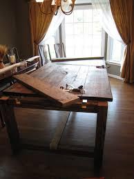 Diy Farmhouse Table Hgtv Diy Dining Room Tables  Kukielus - Diy rustic dining room table