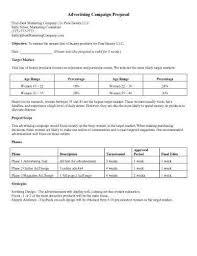 Advertising Proposal Template Free Henrycmartin Com